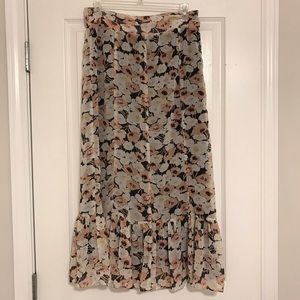 Down East Floral maxi skirt